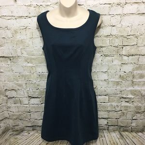 Deletta Green Sleeveless Sheath Dress H9